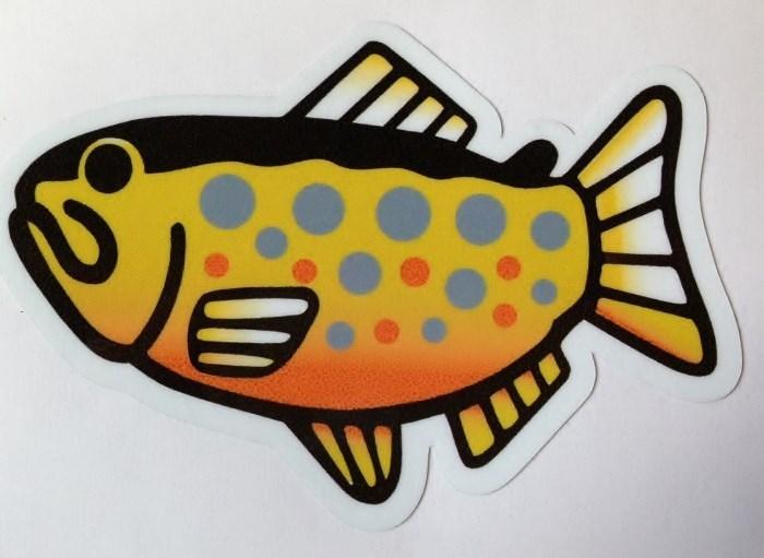 画像1: 魚ステッカー オショロコマ 小