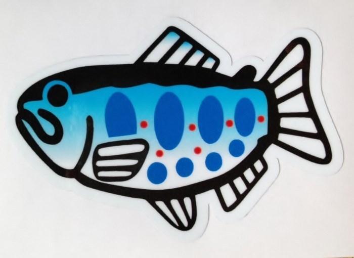 画像1: 魚ステッカー あまご 小