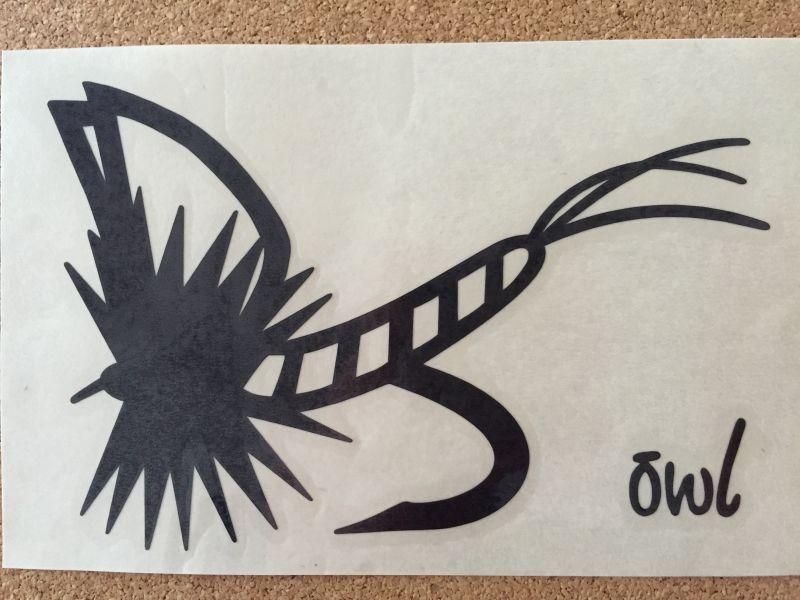 画像1: 転写ステッカー モンカゲフライ大 (ブラック)